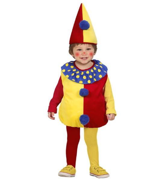 Toddler Clown Costume Circus Fancy Dress